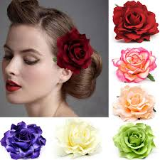 hair decorations aliexpress buy 10cm large fabric blooming flower woman