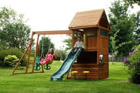 belton climbing frame straight slide enclosed cabin and fort