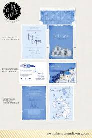 wedding invitations island destination wedding invitation set santorini greece island
