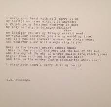 wedding quotes ee ee i carry your heart poem typed on by whitecellardoor