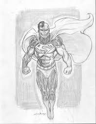 cyborg superman sketch by c crain on deviantart