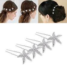 hair accessories for women yueton pack of 10 rhinestone starfish