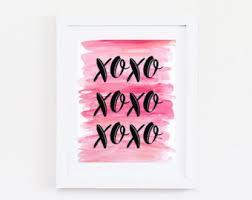 stylish design ideas girly wall or xoxo decor bedroom print