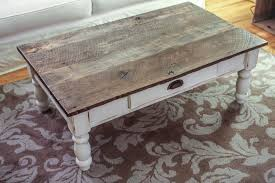 distressed wood end table coffee table painted antique white and distressed wood brilliant for