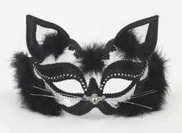 Black And White Cat Mardi Gras Mask Mardi Gras Joie De Vivre