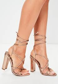 rose gold multi strap sandals missguided