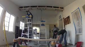 Kitchen Cabinet Bulkhead Kitchen Remodeling Day 3 Of 17 Soffit Box Construction