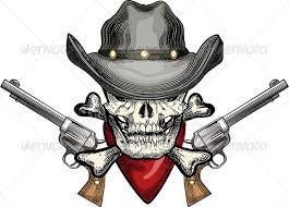 skull in cowboy hat by gertot1967 graphicriver