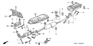 honda crv parts 2004 honda store 2004 crv exhaust pipe muffler parts