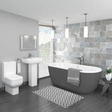 design a bathroom free home designs grey bathroom pro 600 grey modern free standing