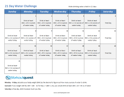 Water In Challenge January Fitness Challenge Ts M Fitness Challenges