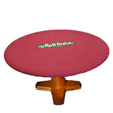 neoprene game table cover rollout gaming round 50 inch neoprene poker playing surface table