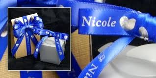 personalized ribbon for favors printed ribbons for wedding favors white quilted favor box custom