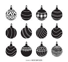 ornament silhouette set vector
