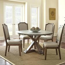 Glass Top Round Dining Tables by Round Glass Top Metal Base Modern 5 Piece Dining Set Glass And