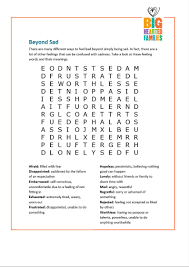feelings word search u2014 doing good together