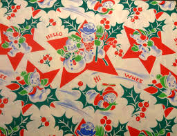 modern christmas wrapping paper vintage 1940 s 50 s christmas wrapping paper roly poly snowmen