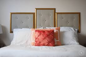 Diy Pillow Headboard Diy Upholstered Headboard Alternative Tutorial Brenda Bird