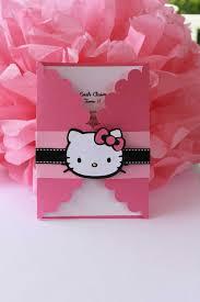 Hello Kitty Birthday Invitation Card Cute Hello Kitty Invitations Invitations Ideas Baby Shower