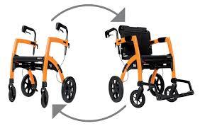 rollz motion 2 in 1 transport wheelchair rollator