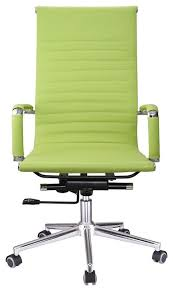 Executive Desk Chairs Executive High Back Ribbed Pu Leather Swivel Office Computer Desk