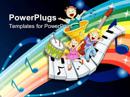 free children powerpoint templates instrument powerpoint templates crystalgraphics powerplugs powerpoint template with three children dancing and singing on musical instruments