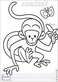 coloriage singe 1 coloriages animaux de la jungle en anglais