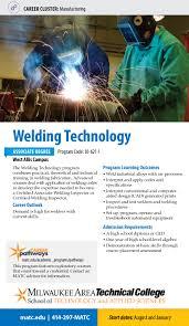 welding technology a a s degree