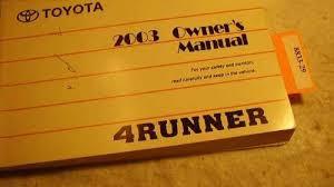 1998 toyota 4runner owners manual runner toyota 4runner outpost