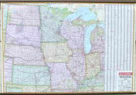 Map Of Central Usa by Wall Map North Central Us Overview