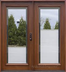 home design french doors with blinds inside glass wainscoting