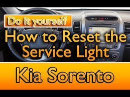 kia sedona tpms light how to reset the service light kia sorento sportage youtube