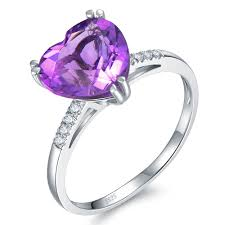 allure of love 2 6ct fine jewelry natural amethyst crystal 925