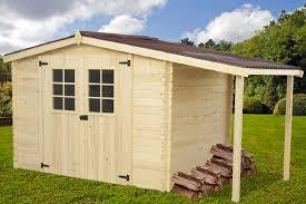 soubassement bois kit abri jardin bois montana bucher 4 15x2 04m abrirama mo3020 02bn