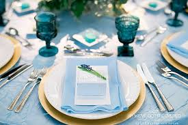 Blue Table Menu Finding The Right Napkin For Your Wedding Minneapolis Wedding