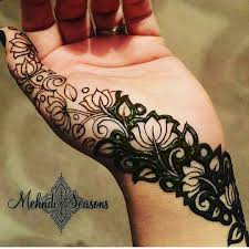 a beautiful veil design for hint of mehendi on your hand for the