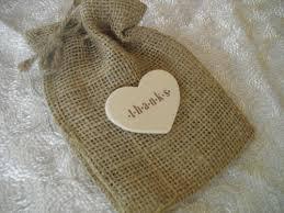 burlap wedding favor bags favor bags set of 10 thank you burlap wedding favor bags item