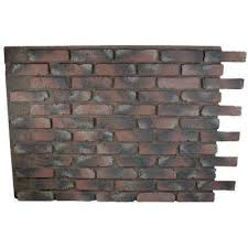 red brick faux stone stone veneer the home depot
