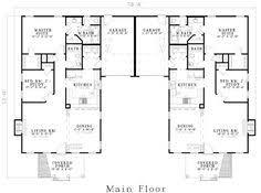 duplex plan chp 891 at coolhouseplans com retirement home
