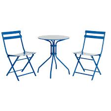 Garden Bistro Table Wilko Garden Bistro Set Blue Metal Wilko Ss17 Outdoor