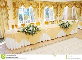 top table at wedding reception stock photography image 30379482