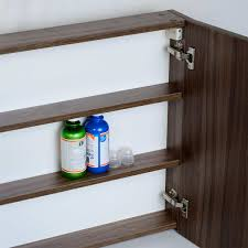buymedicine cabinet w mirror walnut 31 5 in w x 26 in h tn tb800