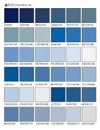 blue swatches printable rgb color palette swatches my practical skills my