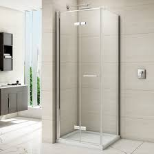 bifold shower door frameless merlyn 8 series frameless hinged bifold shower door 800mm m87211
