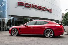 red porsche panamera modulare wheels tunerworks performance porsche panamera turbo