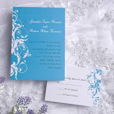blue wedding invitations exquisite blue and white damask wedding invitations ewi019 as low