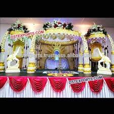hindu wedding mandap decorations indian wedding mandap decoration fiber elephant tusk pillars