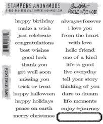 tim holtz cling rubber sts simple sayings cms155 at simon says