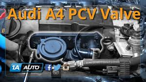 2007 audi a4 turbo replacement how to install replace pcv valve postive crank ventilation