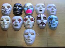 blank masks modified blank masks and more slipknot undead